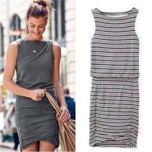 Athleta 'Tulip' Striped Shirred Sleeveless Dress